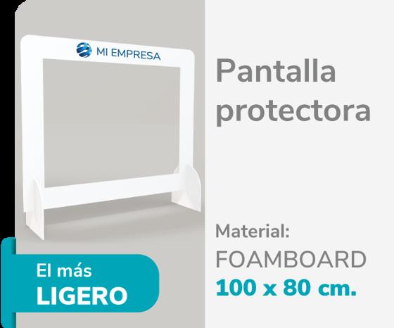 Picture of Pantalla Protectora Foamboard 10mm 100x80 | Impresión de logo