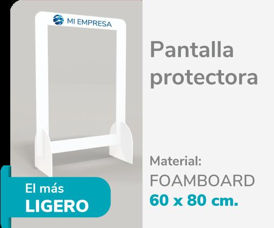 Picture of Pantalla Protectora Foamboard 10mm 60x80 | Impresión de logo