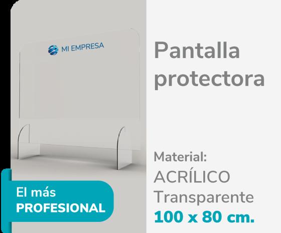 Picture of Pantalla Protectora Acrílico 3mm 100x80 | Impresión de logo