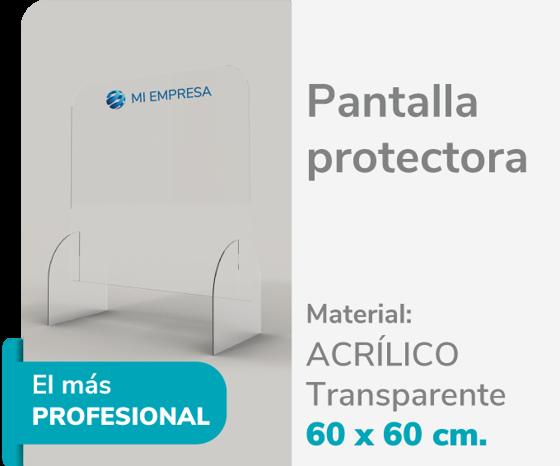 Picture of Pantalla Protectora Acrílico 3mm 60x60 | Impresión de logo