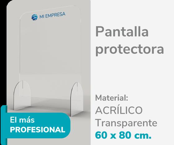 Picture of Pantalla Protectora Acrílico 3mm 60x80 | Impresión de logo