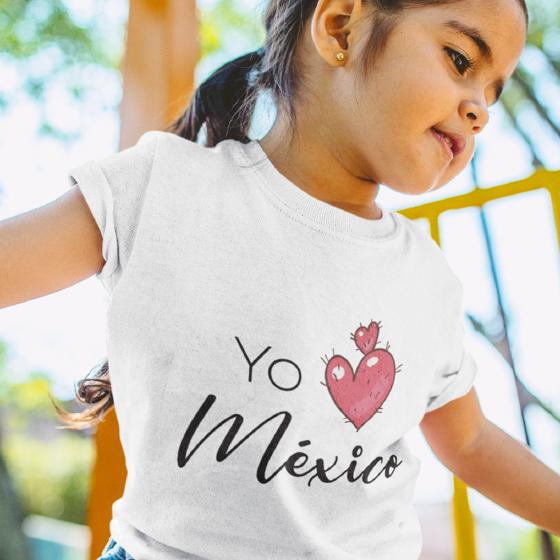 Picture of Playera niña   Yo amo méxico