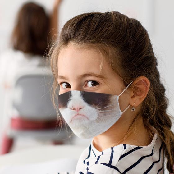 Picture of Cubrebocas Kids Lavable   Gato 3
