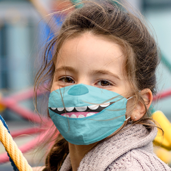 Picture of Cubrebocas Kids Lavable | Monster smile