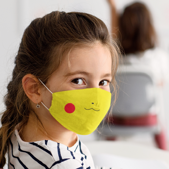 Picture of Cubrebocas Kids Lavable | Pikachu