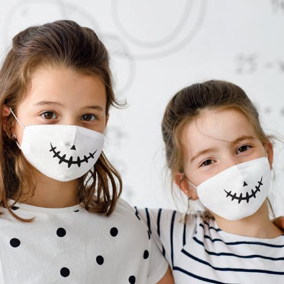 Foto de Cubrebocas Kids Lavable | Skeleton