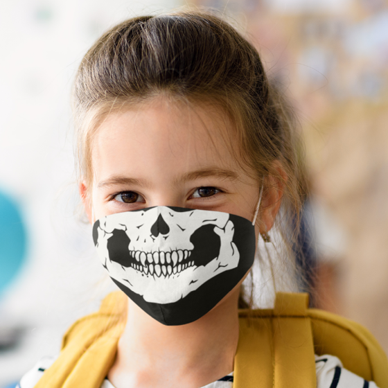 Picture of Cubrebocas Kids Lavable   Skull