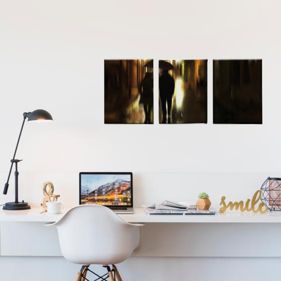 Foto de Set de Cuadros canvas   Reflejo paseo