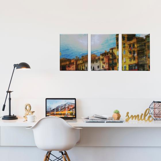 Picture of Set de Cuadros canvas | Arte edificios