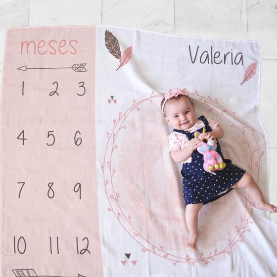 Picture of Cobija personalizada   Cumple mes niña