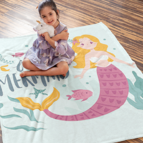 Picture of Cobija personalizada | Sirena