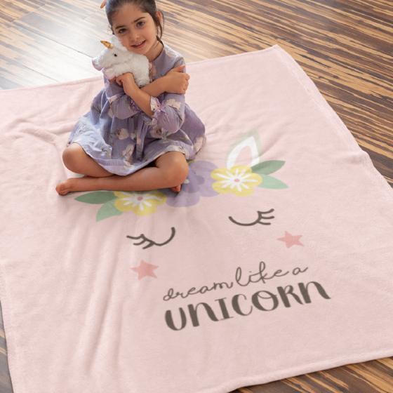 Picture of Cobija personalizada   Unicornio