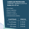 Picture of Careta de Protección Confort con Banda elástica | Pet-G