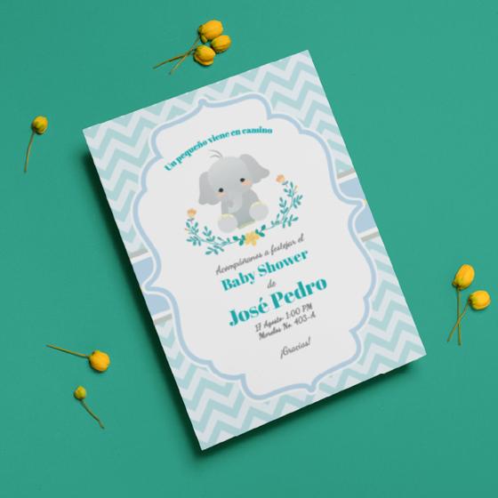 Picture of Invitación personalizada | Cute Elefant