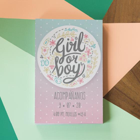 Picture of Invitación personalizada   Gender reveal