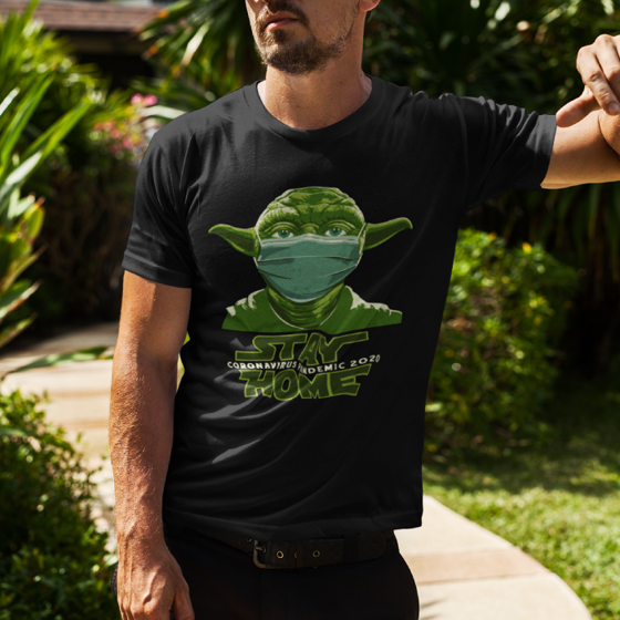 Picture of Playera hombre   Stay home yoda